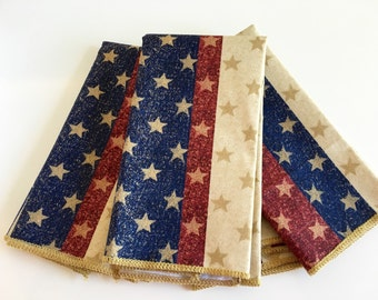 4th of July Patriotic Napkins