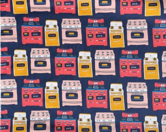SALE : Bake stoves navy blue Julia Rothman Windham fabrics FQ or more