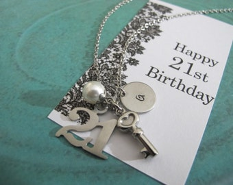 21st Birthday Gift | Personalized 21st Necklace | 21st Birthday card | Gift For Daughter | Sister Gift | Daughter Gift | Best Friend Gift
