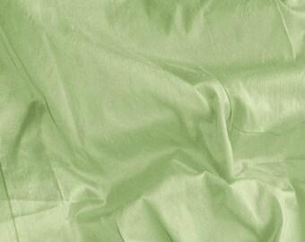 dupioni silk fabric - willow green 100% pure silk - fat quarter - sld091