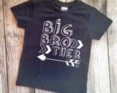 Big Brother Shirt Arrow Hipster Big Brother Shirt Big Brother Tshirt Hip Big Brother Arrow theme shirt Big Bro Shirt Pregnancy Announcement
