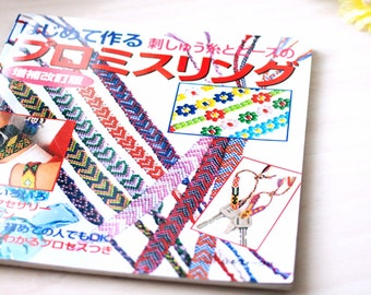 Friendship Bracelet Pattern, Japanese Beading Misanga Promise Rings Book, Beading Pattern, Beading Tutorial, Japanese Craft Book