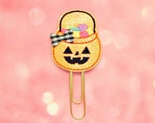 Halloween Candy Bucket Glitter Planner Clip