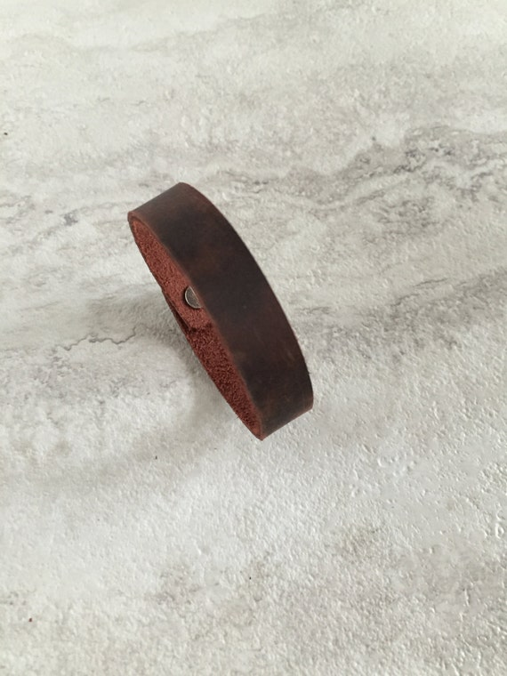 Women's Thin Brown Leather Bracelet