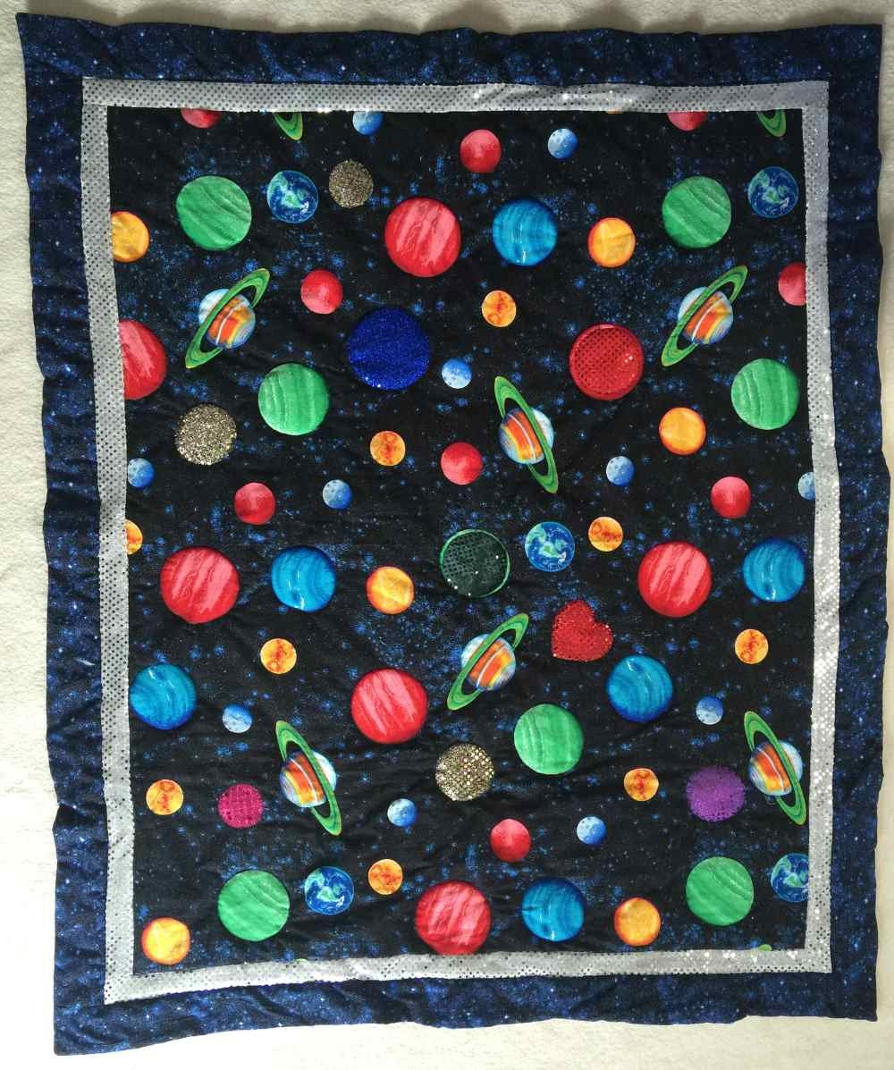 Outer space lap quiltquiltsbyshirley for Outer space quilt patterns