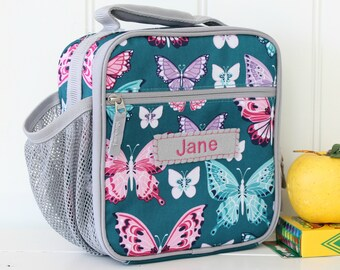 Lunch Bag With Monogram Classic Style Pottery Barn -- Teal Butterfly