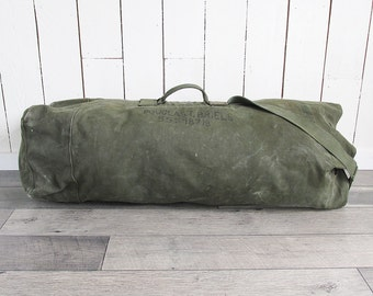 Large Korean War - Vietnam War Era U.S. Army Duffel Bag - Monster Storage