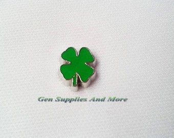 Four Clover Charm, Green leaf charm, clover charm,   Floating Charms For Floating Lockets, Personalized Floating Memory Locket