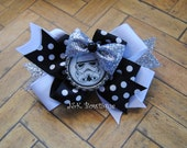Star Wars Storm Trooper layered classic bow....hair bow