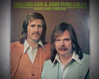 Vintage England Dan and John Ford Coley LP Stereo 1976 Record Album NIGHTS Are FOREVER