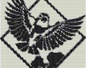 Digital PDF File Set of 5 Bead Stitch Patterns in Brick Stitch Beaded Tapestry Birds Nature