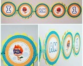 Bubble Guppies, Bubble Guppies Party, Bubble Guppies Banner, First Birthday, Name Banner, High Chair Banner, Bubble Guppies Theme