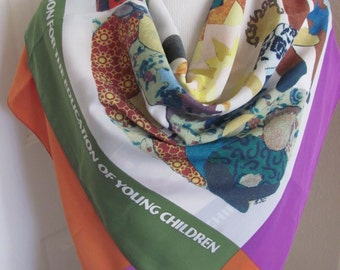 """Lovely Colorful Large Soft Poly Scarf - 30"""" x 36"""" Square"""