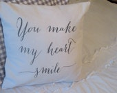 You Make My Heart Smile Pillow Cover