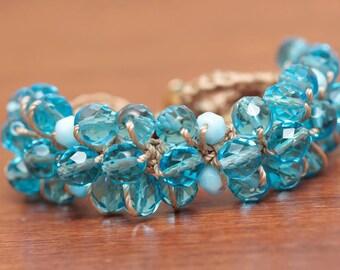 Crochet Bracelet Tutorial, Beaded Jewelry Pattern, Crochet Jewelry Tutorial  (24)