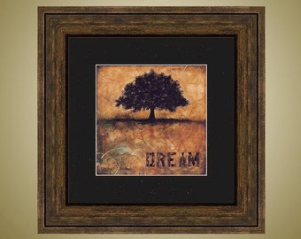 PRINT or GICLEE Reproduction -- Abstract Tree Print, Tree Art, Dream -- Don't Forget Your Dreams