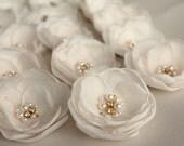Ivory nude flower, bridal hair clip, wedding hair accessories, pastel flower, bridal hairpiece