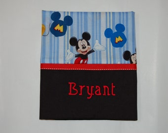 Boy's Embroidered Pillowcase