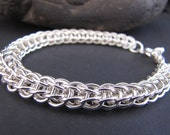 "Full Persian Weave 8 1/2"" Sterling Bracelet with Toggle Clasp"