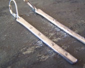 Silver Sparkle Stick Earrings, MADE TO ORDER