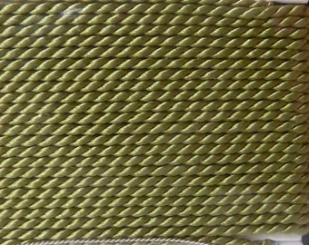 Green Jade Green Silk Beading Thread Size 8 with Needle Attached  -  Griffin Pure Silk Cord