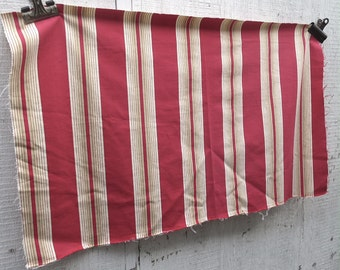 Vintage French Ticking / Alsace Region / Red