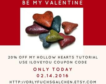 Polymer Clay Tutorial, Hollow Heart Beads, Polymer Clay Beads, Hollow Beads (arcilla polimerica, Fimo урок, d'argile de polymère)