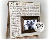 End of the Season Coach Gift, Personalized Gift for Coach, Coach Frame 16x16 The Sugared Plums Frames