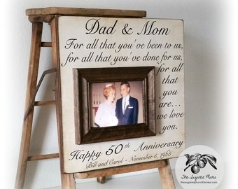 anniversary gifts 50th wedding anniversary gifts parents anniversary ...
