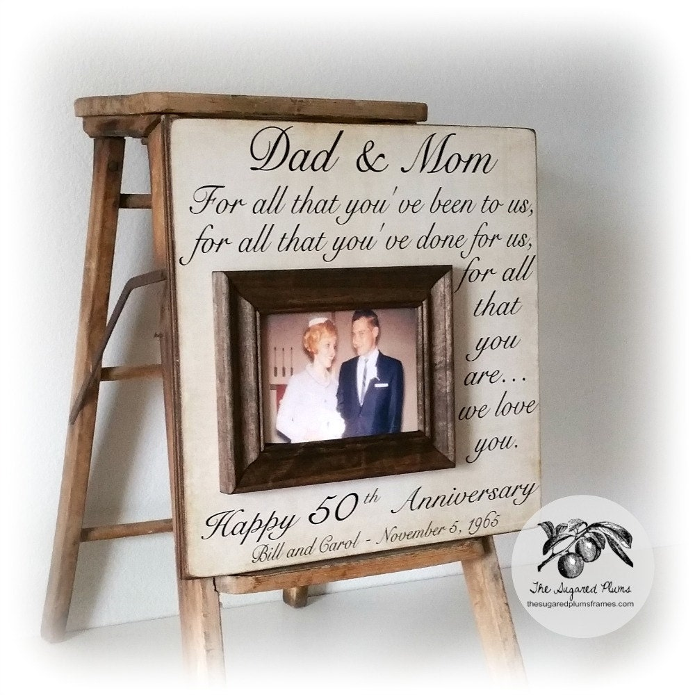 50th anniversary gifts 50th wedding anniversary gifts for Gifts for parents on anniversary