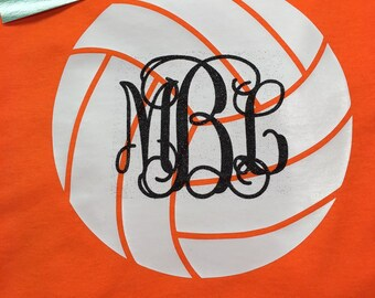 Volleyball monogram personalized Youth, Adult  t-shirt