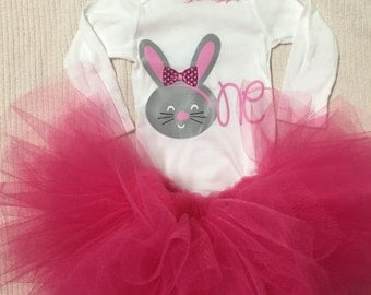 1st Birthday Bunny Tutu Set