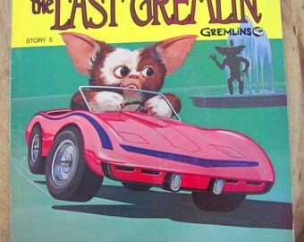 The Last Gremlin Warner Brothers Vintage Childrens Book 1984 Paperback See Hear Read Illustrated Record Book Sci-Fi Science Fiction 45