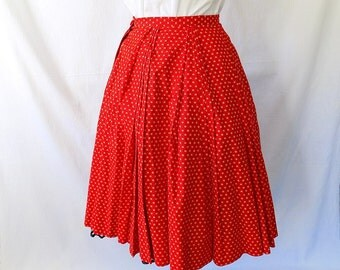 1950s 1960s Full Skirt in Cotton from Peck & Peck