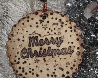 Handmade Ceramic Ornament - Merry Christmas