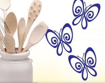 Wall Decal Butterfly Wall Sticker Vinyl Wall Decal Butterflies Bedroom Decor Kitchen Cabinet Mini Wall Decals