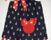 Minnie Mouse dress red white blue Disney pillowcase dress Disney 3 ,6,9.12,18 month 2t,3t,4t,,5t,6,7,8,10,12