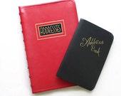 Two Vintage Address Books