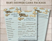 Baby Boy Game Package Set Vintage Airplane Printable Baby Shower Games Wishes for Baby Game Price is Right Baby Mad Libs - INSTANT DOWNLOAD