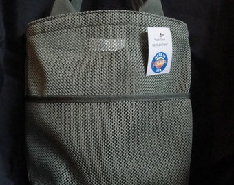 Tactical Tote Bag /Small Green Mesh with Pocket
