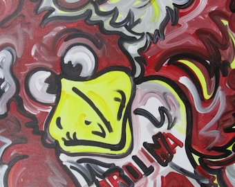 30x24 Officialy Licensed University of South Carolina Painting by Justin Patten Sports Art College Baseball Football Gamecocks Cocky