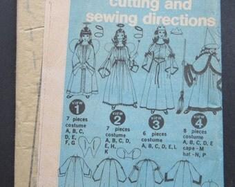 UNCUT Simplicity 9052 Girls Costume Pattern Witch, Fairy, Angel & Princess Size Small 2-4