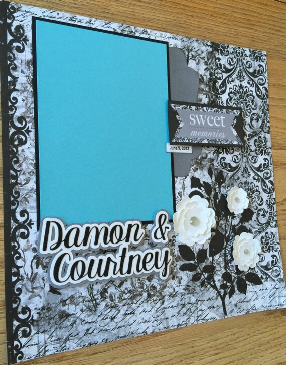 Custom Made Wedding Scrapbook Album YOU CHOOSE COLORS Personalized Wedding