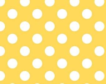 Laminate Dots Yellow for Riley Blake, 1/2 yard
