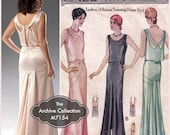 SALE 1930s Evening Gown Pattern McCall's M7154 McCall 6057 Wedding Dress Bridal Dance Prom Cocktail Reissue Uncut Womens Vintage Sewing Patt