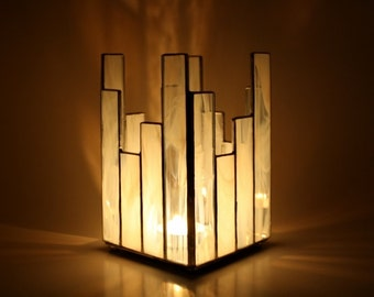 Votive Candle Holder Stained Glass