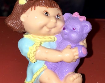 vintage 1995 Cabbage Patch Kid girl with stuffed bear pvc