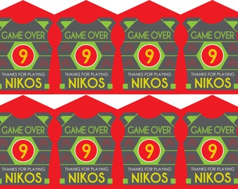 Printable Laser Tag Birthday Party Favor Tags