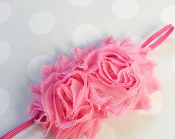Bubble Gum Pink Headband - Headband - Girls Pink Flower Headband -Baby Girl Headband - Baby Headbands - Headbands for Girls - Bright Pink
