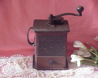 Old Vintage Primitive  Coffee Grinder Mill Sun Manurfacturing Ohio